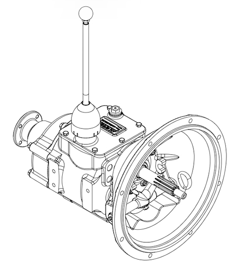 American 4 Speed transmission - SAE 5 distributed by Ranger Mining Equipment Ltd Canada